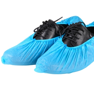 Polypropylene  Shoe  Cover - Blue - Non Slip Sole