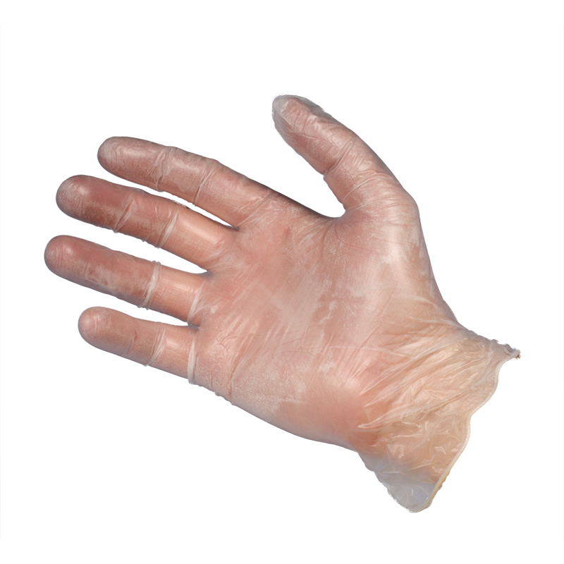 Vinyl Gloves - Clear - Lightly Powdered - Small
