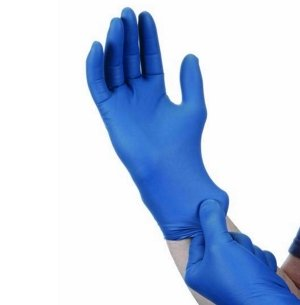 Premium Nitrile  Gloves - Powder Free  -  Micro Textured - Blue - Small