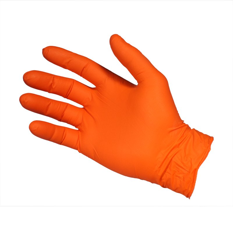 Nitrile  Gloves - Powder Free  -  Orange - Micro Textured - Small
