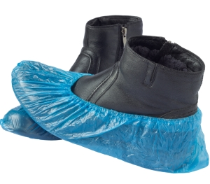 Chlorinated Polyethylene Shoe Covers - Waterproof - Blue